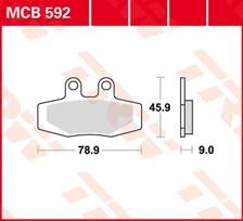 TRW Plaquettes de frein organique MCB592