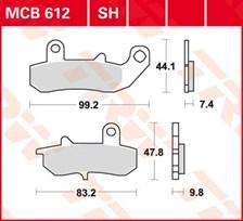 TRW Plaquettes de frein organique MCB612