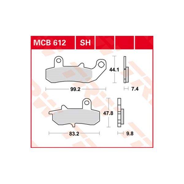 TRW Standaard remblokken MCB612