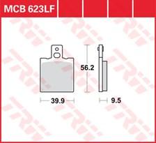 TRW Plaquettes de frein organique MCB623