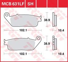TRW Plaquettes de frein organique MCB631
