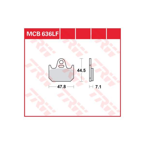 TRW Standaard remblokken MCB636