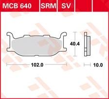TRW Plaquettes de frein métal fritté SRM MCB640SRM