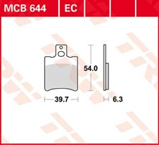 TRW Plaquettes de frein organique EC MCB644EC