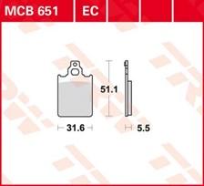 TRW Plaquettes de frein organique EC MCB651EC