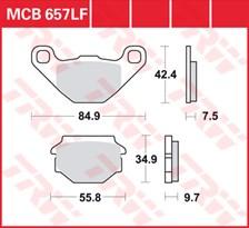 TRW Plaquettes de frein organique MCB657