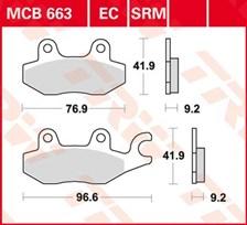 TRW Plaquettes de frein organique EC MCB663EC