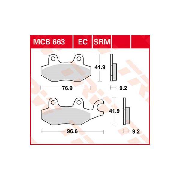 TRW Standaard EC remblokken MCB663EC