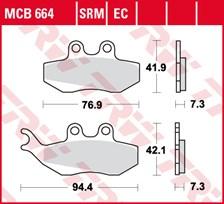 TRW Plaquettes de frein métal fritté SRM MCB664SRM