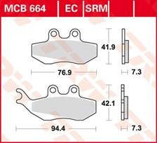 TRW Plaquettes de frein organique EC MCB664EC