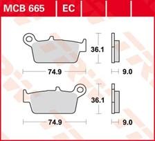 TRW Plaquettes de frein organique EC MCB665EC