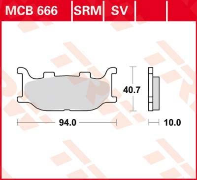 TRW Plaquettes de frein métal fritté SRM MCB666SRM