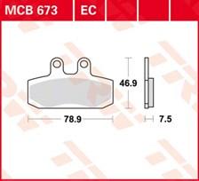 TRW Plaquettes de frein organique EC MCB673EC