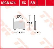 TRW Plaquettes de frein organique EC MCB674EC