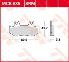 TRW Plaquettes de frein métal fritté SRM MCB685SRM