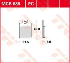 TRW Plaquettes de frein organique EC MCB688EC