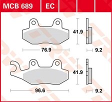 TRW Plaquettes de frein organique EC MCB689EC