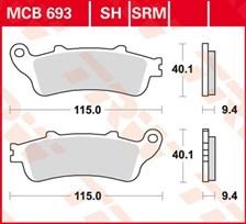 TRW Plaquettes de frein métal fritté SRM MCB693SRM