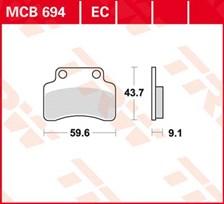 TRW Plaquettes de frein organique EC MCB694EC