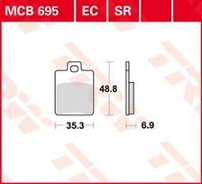 TRW Plaquettes de frein organique EC MCB695EC