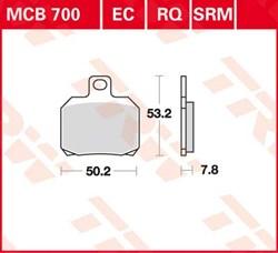 TRW Plaquettes de frein métal fritté SRM