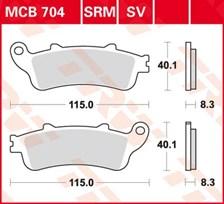 TRW Plaquettes de frein métal fritté SRM MCB704SRM