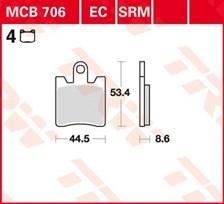 TRW Plaquettes de frein métal fritté SRM MCB706SRM