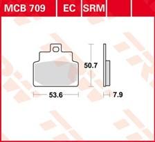 TRW Plaquettes de frein organique EC MCB709EC