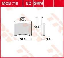 TRW Plaquettes de frein organique EC MCB710EC