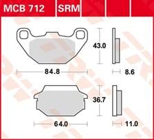 TRW Plaquettes de frein métal fritté SRM MCB712SRM