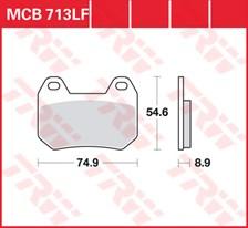 TRW Plaquettes de frein organique MCB713