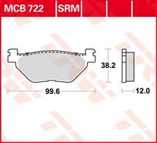 TRW Plaquettes de frein métal fritté SRM MCB722SRM