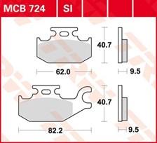 TRW Plaquettes de frein organique MCB724