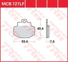 TRW Plaquettes de frein organique MCB727