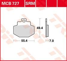 TRW Plaquettes de frein métal fritté SRM MCB727SRM
