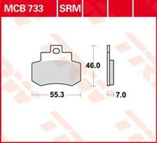 TRW Plaquettes de frein métal fritté SRM MCB733SRM