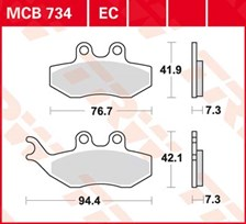TRW Plaquettes de frein organique EC MCB734EC
