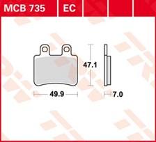 TRW Plaquettes de frein organique EC MCB735EC