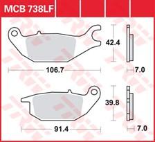 TRW Plaquettes de frein organique MCB738