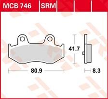 TRW Plaquettes de frein métal fritté SRM MCB746SRM