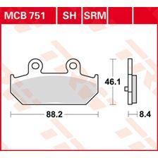 TRW Plaquettes de frein métal fritté SRM MCB751SRM