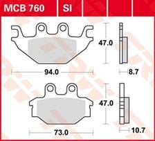 TRW Plaquettes de frein organique MCB760