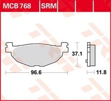 TRW Plaquettes de frein métal fritté SRM MCB768SRM