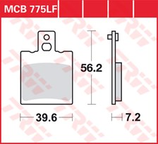 TRW Plaquettes de frein organique MCB775