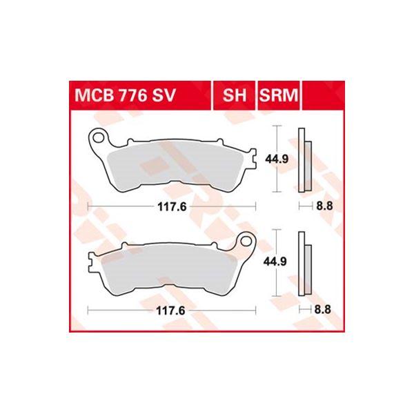 TRW Standaard remblokken MCB776