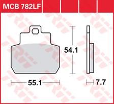TRW Plaquettes de frein organique MCB782
