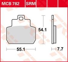 TRW Plaquettes de frein métal fritté SRM MCB782SRM