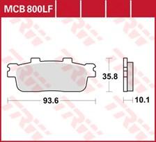 TRW Plaquettes de frein organique MCB800