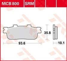 TRW SRM remblokken MCB800SRM