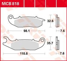 TRW Plaquettes de frein organique MCB818